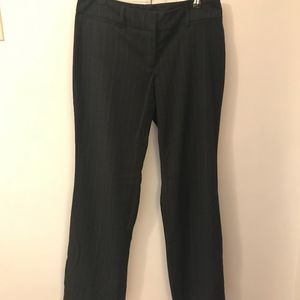 New York and Company Grey Pinstriped Dress Pants